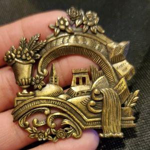 Vintage Brass Brooch